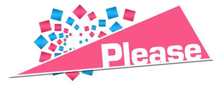 Please Pink Orange Circular Triangle Stock Photo - 118847675