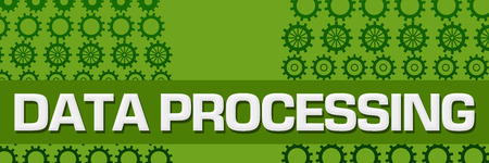 Data Processing Green Gears Horizontal