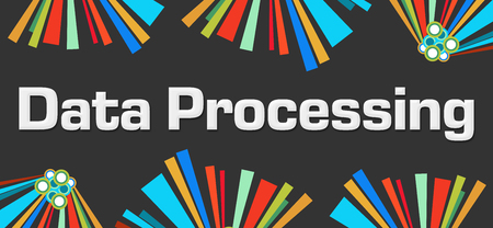 Data Processing Dark Colorful Elements