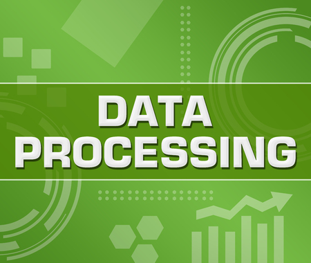 Data Processing Green Technology Background Square