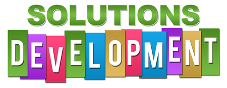 Solutions Development Professional Colorful Stock Photo