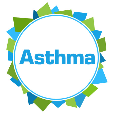 Asthma Green Blue Random Shapes Circle Stock Photo - 118847702