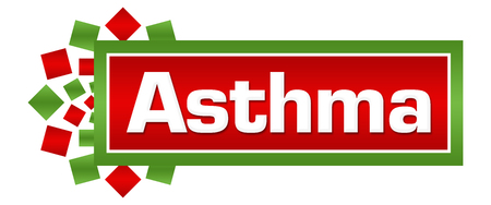 Asthma Green Red Circular Bar Stock Photo - 118847703