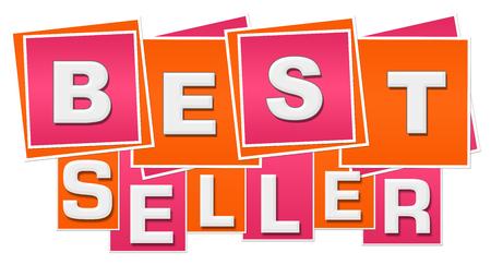 Best Seller Orange Pink Squares Stripes Stock Photo - 118847724