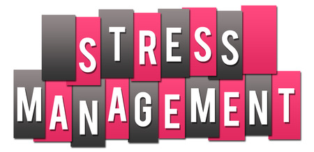 Stress Management Pink Grey Stripes Group Stock Photo - 118847736