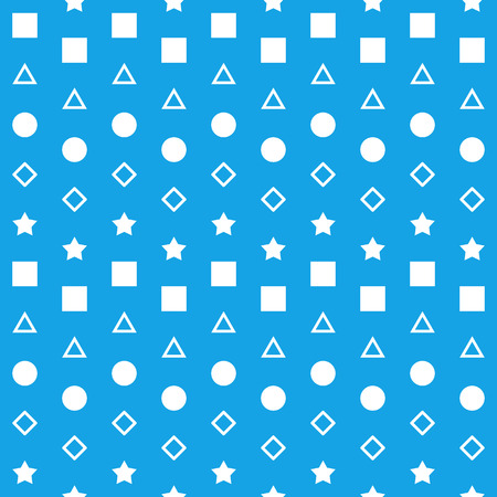 Blue White Square Triangle Circle Diamond Background Stock Photo - 118847741