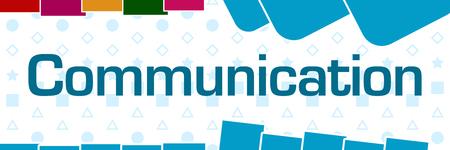 Communication  Basic Shapes Texture Colorful Horizontal Stock Photo - 118847743