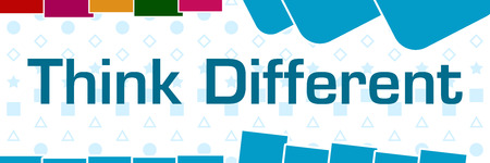Think Different Basic Shapes Blue Texture Colorful Horizontal