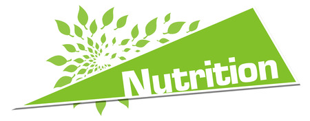 Nutrition Green Leaves Circular Triangle Horizontal Stock Photo