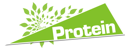 Protein Green Leaves Circular Triangle Horizontal Stock Photo