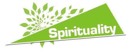 Spirituality Green Leaves Circular Triangle Horizontal Stock Photo