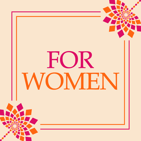 For Women Pink Orange Floral Square Stock Photo - 118847769