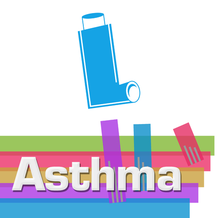 Asthma Abstract Colorful Stripes Square