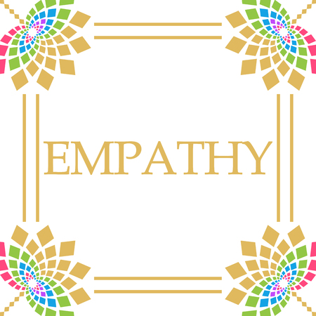 Empathy Colorful Floral Square