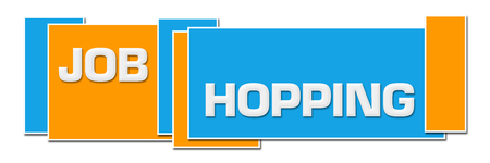 Job Hopping Blue Orange Boxes Horizontal