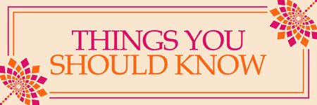 Cosas que debe saber horizontal floral rosa naranja
