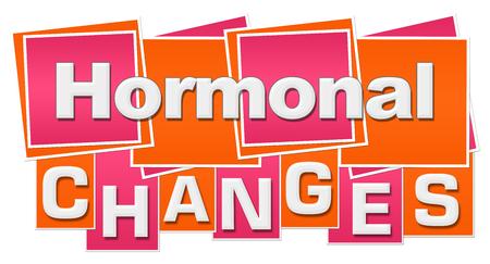 Hormonal Changes Orange Pink Squares Stripes