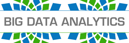 Big Data Analytics Green Blue Texture Horizontal Banque d'images