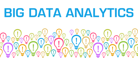 Big Data Analytics Colorful Bulbs With Text
