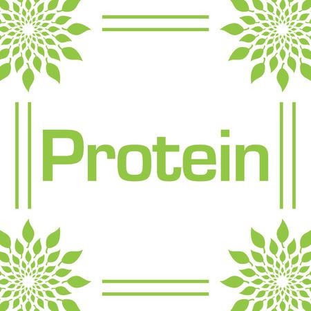 Protein Green Leaves Circular Frame 版權商用圖片