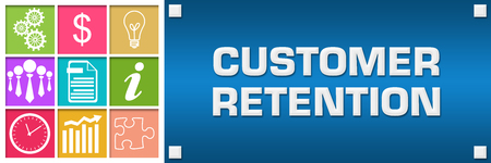 Customer Retention Colorful Business Grid Blue Right