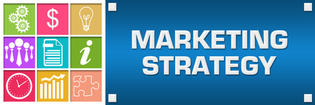 Marketing Strategy Colorful Business Grid Blue Right