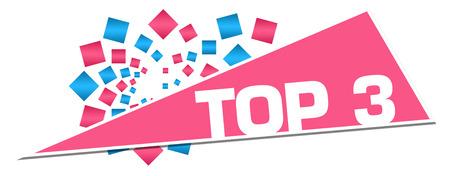 Top Three Pink Blue Circular Triangle Zdjęcie Seryjne