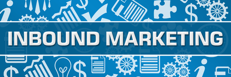 Inbound Marketing Business Symbols Texture Blue Horizontal