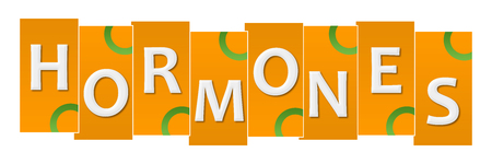 Hormones Orange Green Stripes Rings Stock Photo