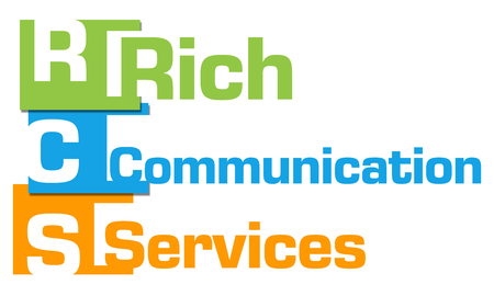 RCS - Rich Communication Services Abstract Colorful Blocks Stock Photo