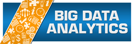 Big Data Analytics Orange Business Element Blue Left Side