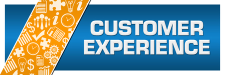 Customer Experience Orange Business Element Blue Left Side