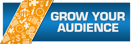 Grow Your Audience Orange Business Element Blue Left Side