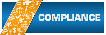 Compliance Orange Business Element Blue Left Side Stock Photo