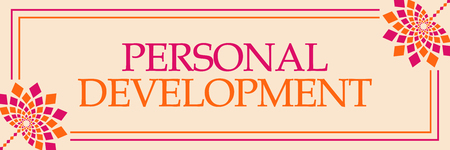 Personal Development Pink Orange Floral Horizontal