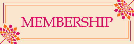 Membership Pink Orange Floral Horizontal