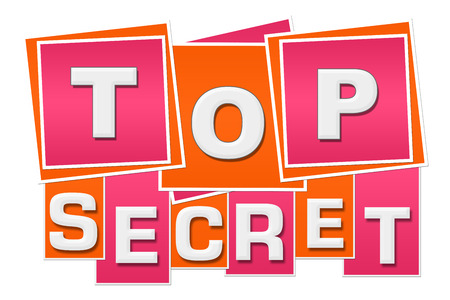 Top Secret Orange Pink Squares Stripes Stock Photo