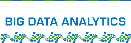 Big Data Analytics Green Blue Graphics Bottom Horizontal