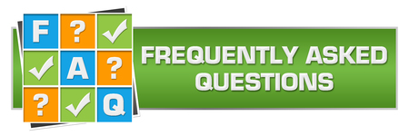 FAQ - Frequently Asked Questions Green Colorful Horizontal Stock Photo
