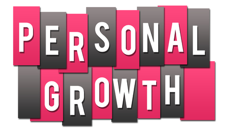 Personal Growth Pink Grey Stripes Group Stock Photo