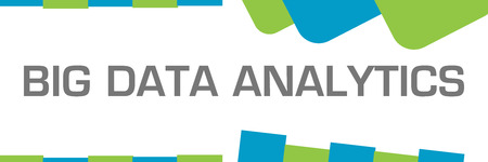 Big Data Analytics Green Blue Shapes Horizontal