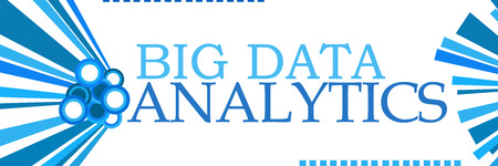 Big Data Analytics Blue Graphics Horizontal