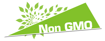 Non GMO Green Leaves Circular Triangle Horizontal