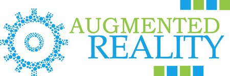 Augmented Reality Dotted Gear Green Blue Horizontal