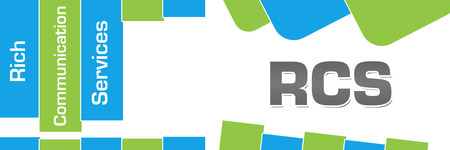 RCS - Rich Communication Services Green Blue Abstract Shapes Horizontal Stock fotó