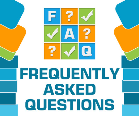 FAQ - Frequently Asked Questions Blue Abstract Shapes Square