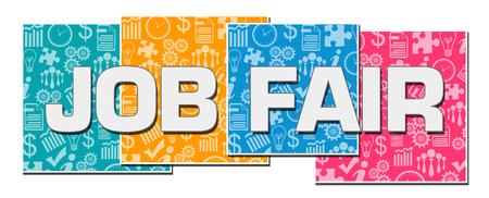 Job Fair Business Texture Colorful Blocks