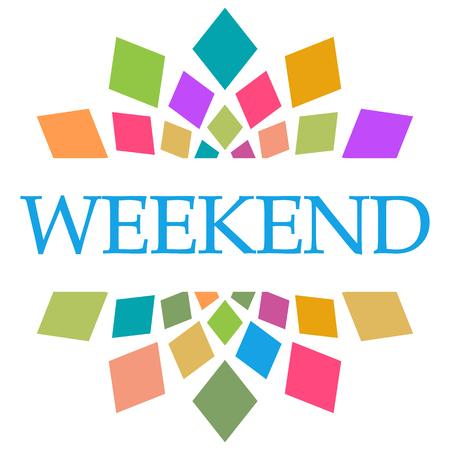 Weekend Colorful Shapes Circular