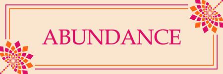 Abundance Pink Orange Floral Horizontal Banco de Imagens
