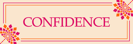 Confidence Pink Orange Floral Horizontal 免版税图像